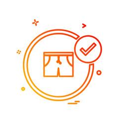 garments icon design vector image