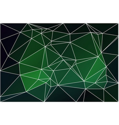 Glowing neon green geometric background with mesh vector