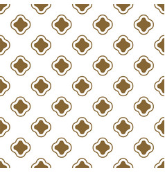gold and white ottoman shapes seamless vector image