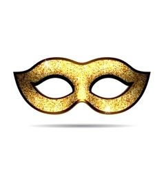 Gold carnival mask vector