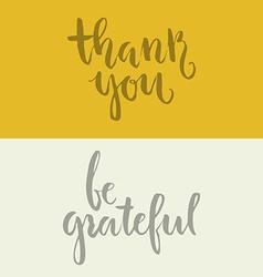 Grateful Lettering vector