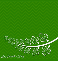 greeting for saint patricks day celebration vector image