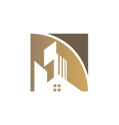Home realty building logo vector