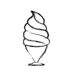 Ice cream in glass vector