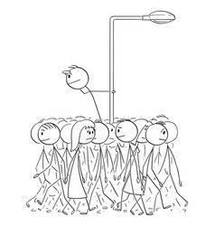 Individuality and crowd searching for opportunity vector
