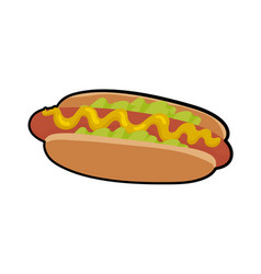 Isolated of delicious hotdog vector