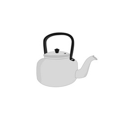 Isolated old kettle icon vector