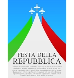 Italian National Day poster vector