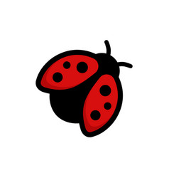 ladybug icon flying red bug images vector image