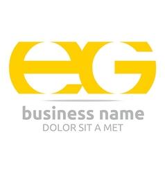 letter e g alphabet element icon vector image