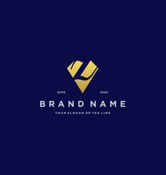 Letter z diamond gold logo design vector