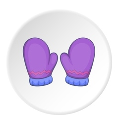 Mittens icon cartoon style vector