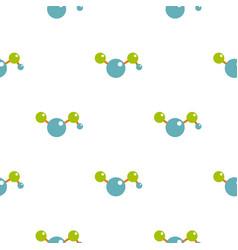 Molecules pattern flat vector