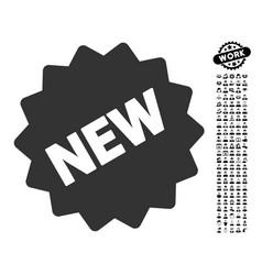 New tag icon with job bonus vector