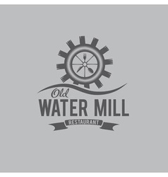 old water mill restaurant concept design template vector image