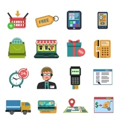 Online Icons Flat vector image
