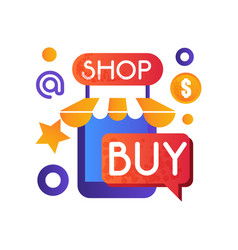 online shop internet shopping e-commerce concept vector image