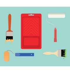 paint tools collection stuff vector image