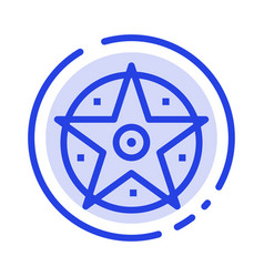 pentacle satanic project star blue dotted line vector image