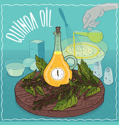 Quinoa oil used for cooking vector