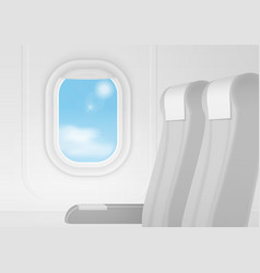 Realistic airplane transport interior vector