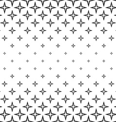 Repeating monochrome star cross pattern vector