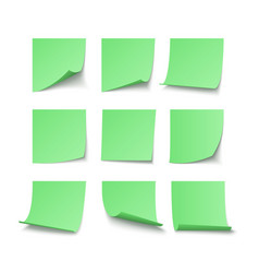 set green stuck stickers with space for text vector image
