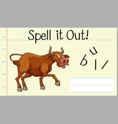 Spell it out bull vector
