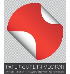 Sticker with Paper Curl with Shadow Isolated vector