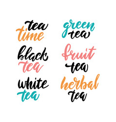 tea time set for prints and posters menu design vector image