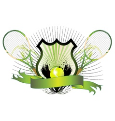Tennis shield vector