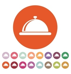 The tray station icon Breakfast and lunch dinner vector image