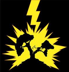 Tree struck lightning vector