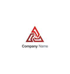 triangle line geometry construction business logo vector image
