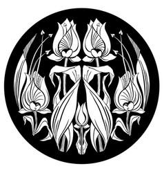 tulip ornament decorative ornament withe vector image