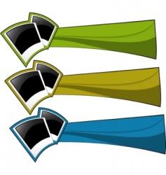 vector color banner set vector image