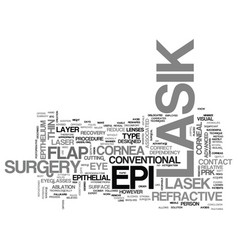 What you need to know about epi lasik text word vector