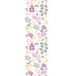 Abstract pink yellow and gray leaves vertical vector image vector image