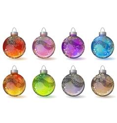 christmas glass balls vector image vector image