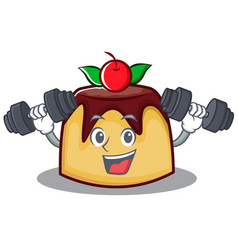 Fitness pudding character cartoon style vector