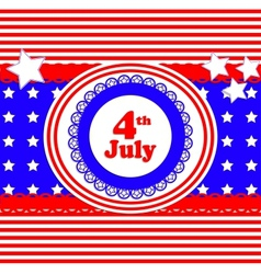 independence day card in scrapbook style vector image