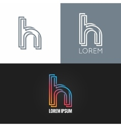 letter H logo alphabet design icon set background vector image vector image