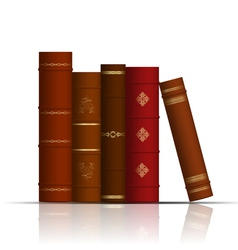 old books vector image vector image