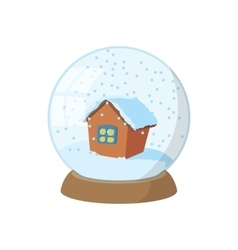 Snow globe icon cartoon style vector image vector image