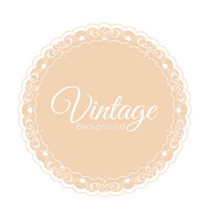 vintage beige background vector image