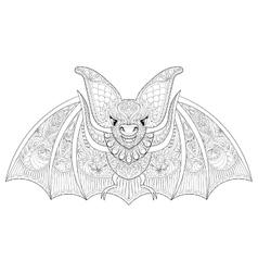 Zentangle stylized flying Bat for Halloween vector image vector image