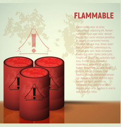 Container of flammable liquid red canister vector