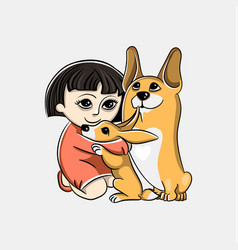 drawing in a children style image of dog vector image vector image