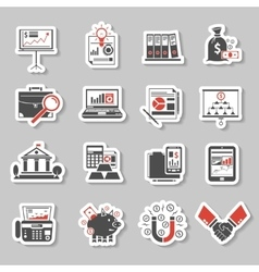 Finance Sticker Set vector image