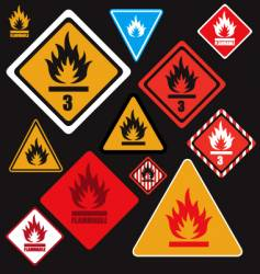 flammable signs vector image vector image